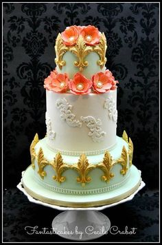 Peach and Gold Weddi