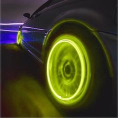 Motion Activated Blue Led Wheel Lights For Bikes And Cars. This is a combine of motion activated wheel valve stem cap tire LED lights  for a... #ledlights #carlights #led