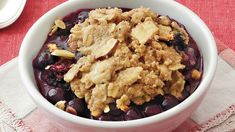 Looking for a fruit dessert? Then treat your guests to this warm blueberry almond cobbler made using Bisquick Heart Smart® mix.