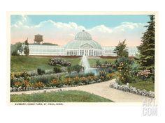 Greenhouse, Como Park, St. Paul, Minnesota Art Print at Art.com