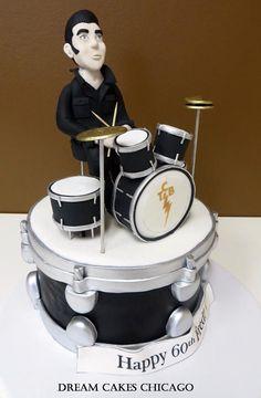 Elvis drum cake