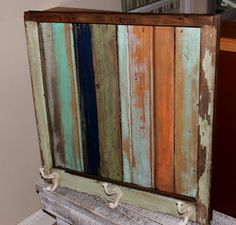 adorable old wood and window frame!