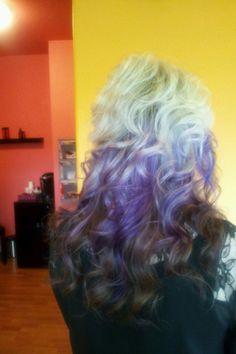 Blonde purple and brown hair!