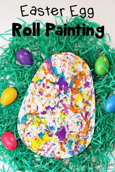 This Easter Egg Roll Painting is a fun process art activity for young children and a creative way to celebrate the up-coming holiday. Process Art Preschool, Preschool Art Activities, Easter Activities For Kids, Painting Activities, Easter Projects, Easter Art, Easter Crafts For Kids, Easter Eggs, Easter Ideas