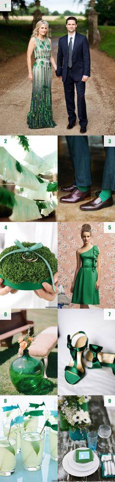 Sapphire and emerald green wedding details #coloroftheyear #pantone #inspiration