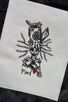 Embroidery Digital File Mad Hatter Skull by NicolaElliott on Etsy