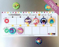 My Daily Routine motivational kit - Routine chart for children - Magnets - Dry-erase magnetic board - Minimo playful motivation Chore Magnets, Kids Magnets, Routine Chart, Motivation, Babysitting Activities, Autism Activities, Activities Of Daily Living, Activity Board, Charts For Kids
