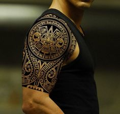 Maori Tattoo Idee für Half Sleeve für Männer