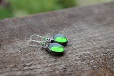 Very delicate green round glass beadwork by CreativeStudioML
