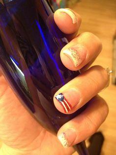 Fun 4th of July nails :)