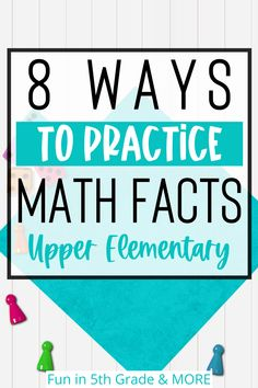 Are practicing math facts in your classroom boring? Are you sick of the boring flashcards & worksheets? This post is for you! Technology is the way to go when practicing math facts now! Find out some fun apps, websites, games and activities to keep your students engaged and learning their math facts. Find activities for addition, subtraction, multiplication & division fact practice. Great for 3rd grade, 4th grade & 5th grade & can be used in the classroom and at home.