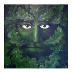 Four Green Oak Green Man Greetings Cards £6.00