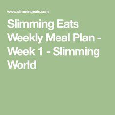Slimming Eats Weekly Meal Plan - Week 5 - Slimming World Easy Slimming World Recipes, Slimming Eats, Sw Meals, Meal Planner, Meals For The Week, How To Plan, Cooking, Fat, Week 5
