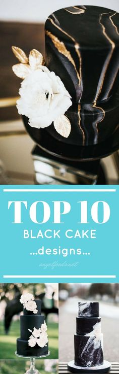Top 10 Black Cake Designs | The best top 10 black trending cake designs that are super popular and trending, right now. Black pops, it has it's own 'wow' factor. Because everything goes with black, right?!? Adding elements of gold or metallics, or a touch of white and the design stands on its own. While scrolling Pinterest I found these amazing cakes that I just had to share. Cake Decorating Icing, Cake Decorating Tutorials, Buttercream Cake, Fondant Cakes, Beautiful Cakes, Amazing Cakes, Cake Mix Desserts, Metallic Cake, Sparkle Cake