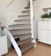 Stairs on pinterest black stairs met and staircases for Open trap renovatie