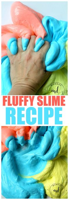 Fluffy Slime - 3 Ingredients to squishy Slime that retains shape - FLUBBER