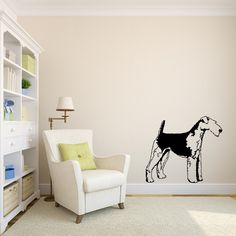 5341 - Airedale Life Size Vinyl Wall Decal Sticker Graphic