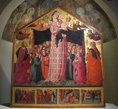 Parri Spinelli, Madonna della Misericordia, 1435-37, Chiesa SS. Lorentino e Pergentino - Museo Nazionale d'Arte Medievale e Moderna.