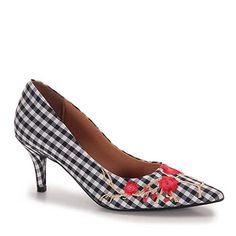 Sapato Salto Alto Bico Fino Emborrachado Tratorado Ankle