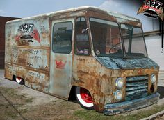Perfection!!!!!!! Must have! Hot rod chevy stepvan by Tattooed Aquaman, via Flickr