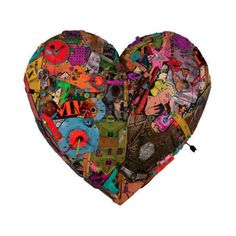 A Different Kind of Valentine. Pop Culture Heart Art Collages by Paris Artist Eric Liot. | if it's hip, it's here