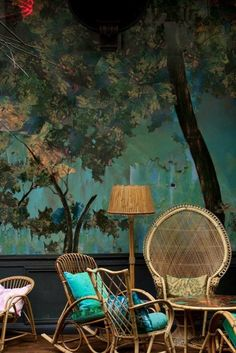 cool rattan furniture in vintage style                                                                                                                                                      More
