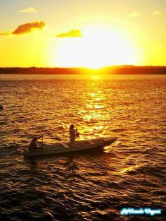 Por do sol na praia do Jacaré João Pessoa Paraíba