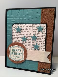 Stampin' Up!, Mojo 348, Label Love, Modern Medley DSP, Circles Collection Framelits, Alphabet Press Embossing Folder, Artisan Label Punch, Itty Bitty Accents Punch Pack, 7/8 Cotton Ribbon, Adhesive Cork Sheet