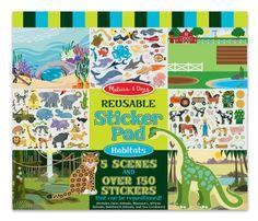 Melissa & Doug Habitats Reusable Sticker Pad. Read more at http://www.toys-zone.com/melissa-doug-habitats-reusable-sticker-pad/