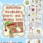 FREE Christmas Vocabulary Charts and Writing Tasks - 5 pages -- 1st, 2nd, and 3rd grade