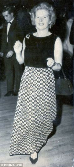 At The Tory Conference In 1970 Margaret Thatcher Wore A Sober Full Length