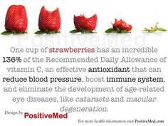 Benefits of strawberries 1 cup a day eliminates the development of macular-degeneration