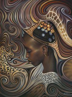 African Spirits II -- by Ricardo Chavez-Mendez