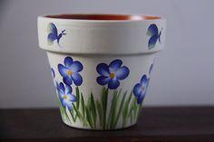 Mini Flower Pots Mini Pot - Quilling Deco Home Trends Flower Pot Art, Flower Pot Design, Clay Flower Pots, Flower Pot Crafts, Clay Pot Crafts, Butterfly Design, Paint Garden Pots, Painted Plant Pots, Painted Flower Pots