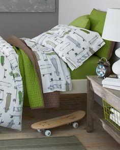 Cute Green Bedding   Boys Room Idea #HomeOwnerBuff