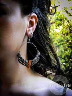 Macrame Hoop Earrings. Macrame Earring with mother of pearl. Limited Edition
