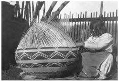 Pomo Indian Basket Weaver, Northern California.  Thnx