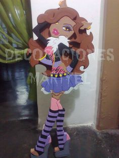 Clawdeen de 1metro Business Baby, Happy Birthday, Birthday Parties, Foam Crafts, Diy Box, Coloring For Kids, Folk Art, Anime, Projects To Try