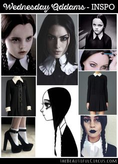 wednesday addams kost m selber machen gothic outfit. Black Bedroom Furniture Sets. Home Design Ideas