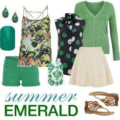 Summer Emerald nails & fashion