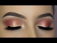 JACLYN HILL X MORPHE PALETTE - Rose Gold Cut Crease Tutorial - YouTube