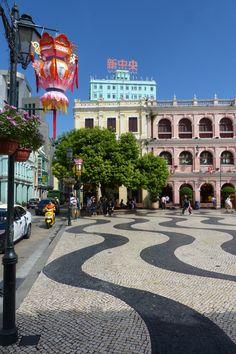 Lovely Portuguese style tiles seen at Senado Square during Mid-Autumn Festival (Macau Sept 2014) - Photo taken by BradJill...