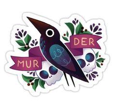 Murder Crow Stickers
