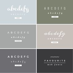 Sweet font combinations