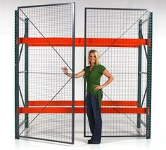 Turn your pallet rack into a security cage with pallet rack enclosures. Secure inventory and bulk storage with our modular pallet rack enclosures.