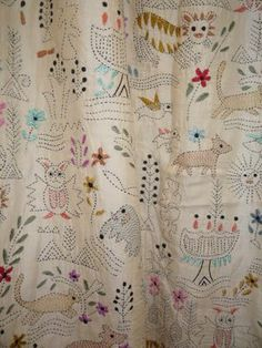 Sophie Pattinson works with women in rural Bangladesh helping them to make a living from this beautiful embroidery on silk. Sashiko Embroidery, Indian Embroidery, Embroidery Art, Cross Stitch Embroidery, Embroidery Patterns, Textiles, Kantha Stitch, Kantha Quilt, Fabric Art