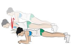 3 plank push ups