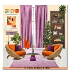 Color Challenge: Orange and Purple