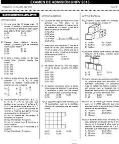 EXAMEN ADMISIÓN VILLAREAL UNIVERSIDAD SOLUCIONARIO 2016 UNFV PDF ~ MATEMATICA PREGUNTAS RESUELTAS