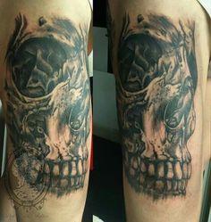 #gothic #skull #tattoo